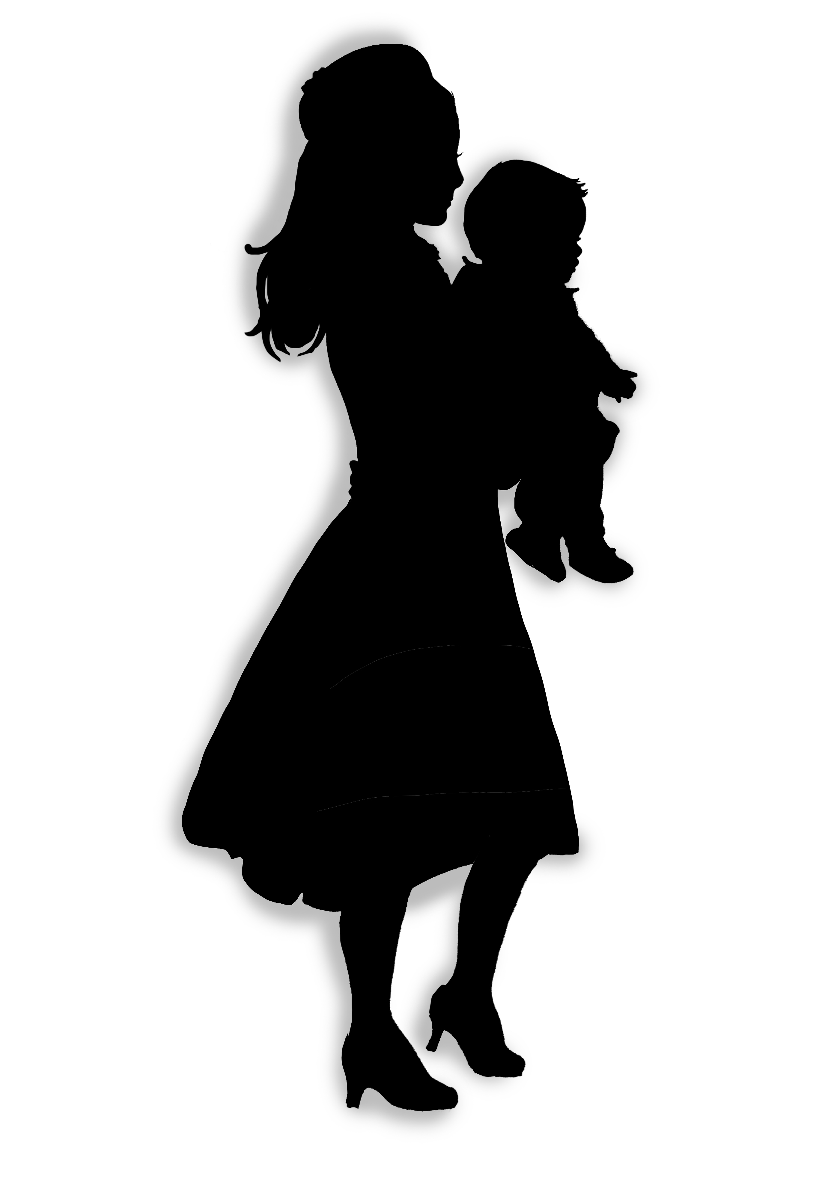 Mom And Baby Silhouette - ClipArt Best