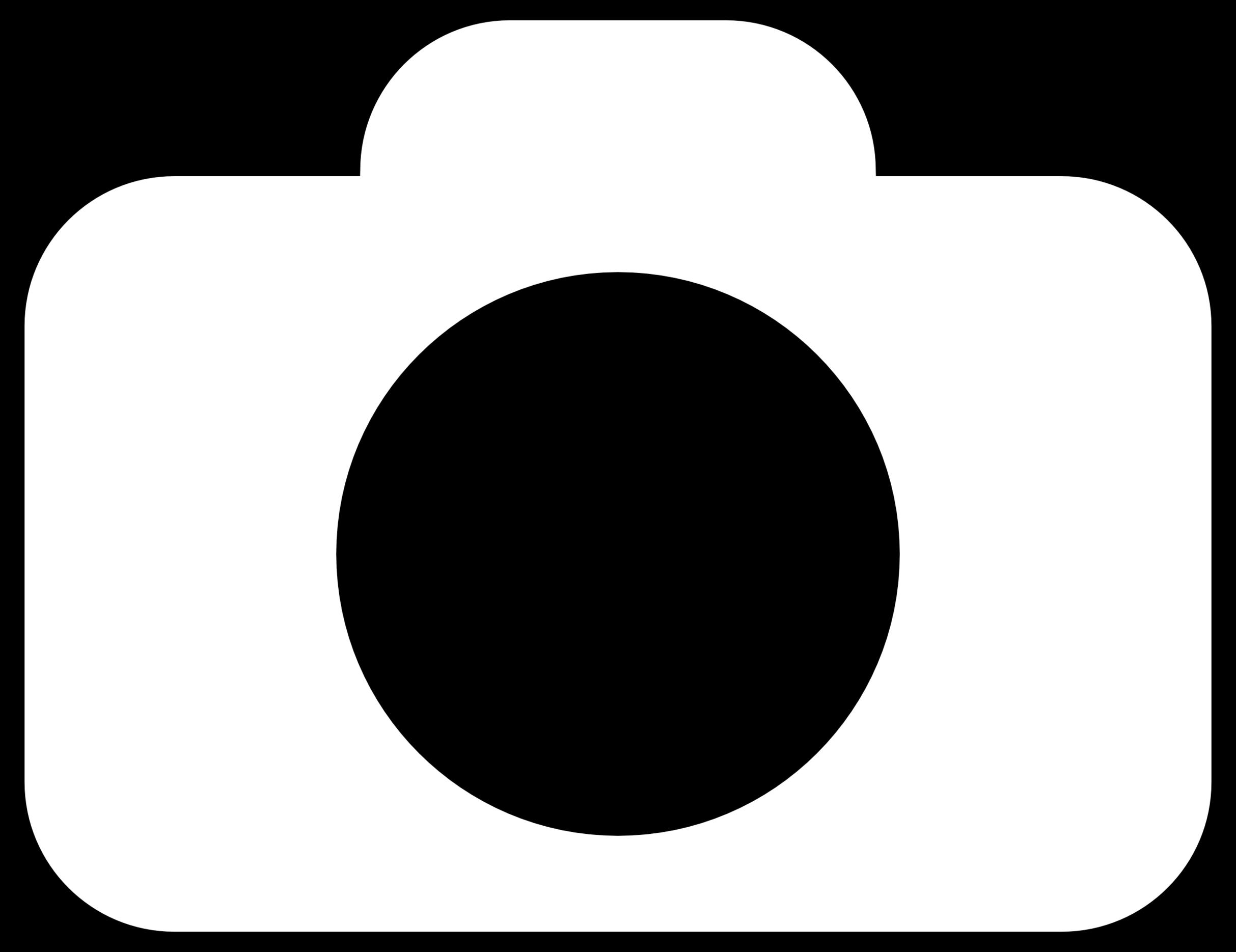 free camera clipart black and white - photo #24
