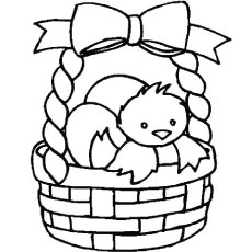 Easter Eggs In A Basket To Draw - ClipArt Best