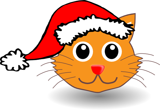 free christmas kitten clipart - photo #18
