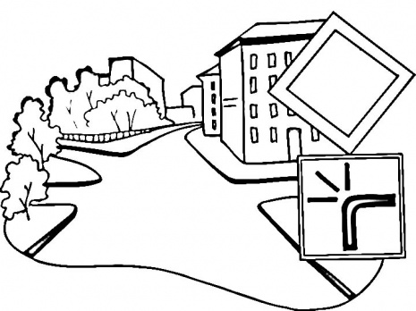 Road Colouring Page Clipart Best Road Coloring Pages