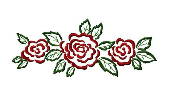Designs of border with red roses clipart best