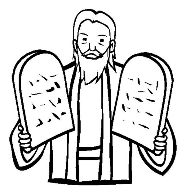 coloring pages ten commandments tablets for sale | The Stone Tablets - ClipArt Best