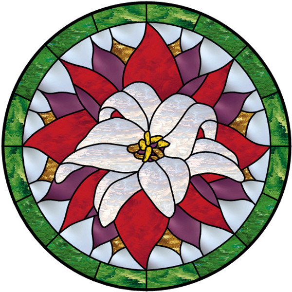 Free stained glass flower patterns clipart best for Window design clipart