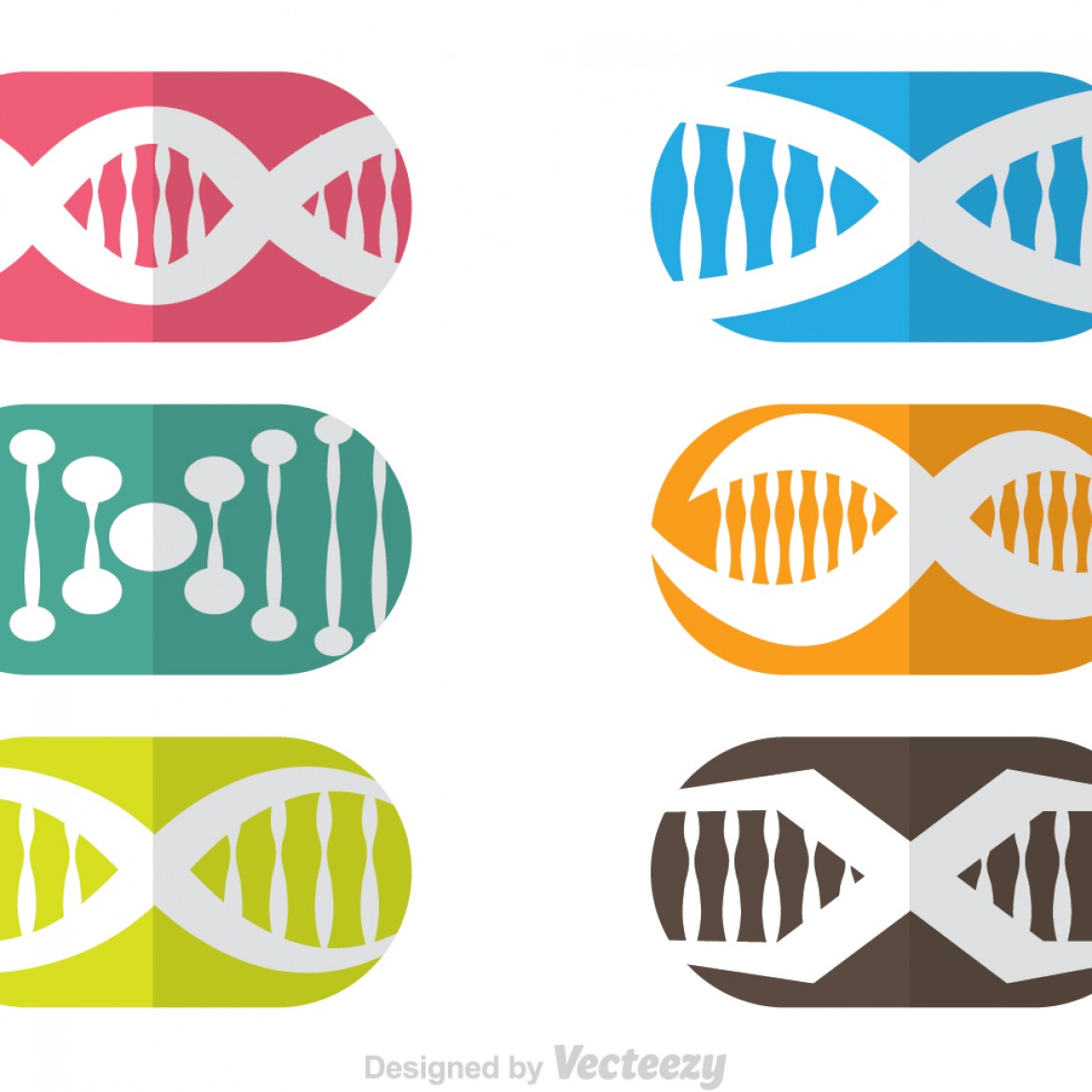 Free vector Double Helix Capsule Icons #10124 | My Graphic Hunt
