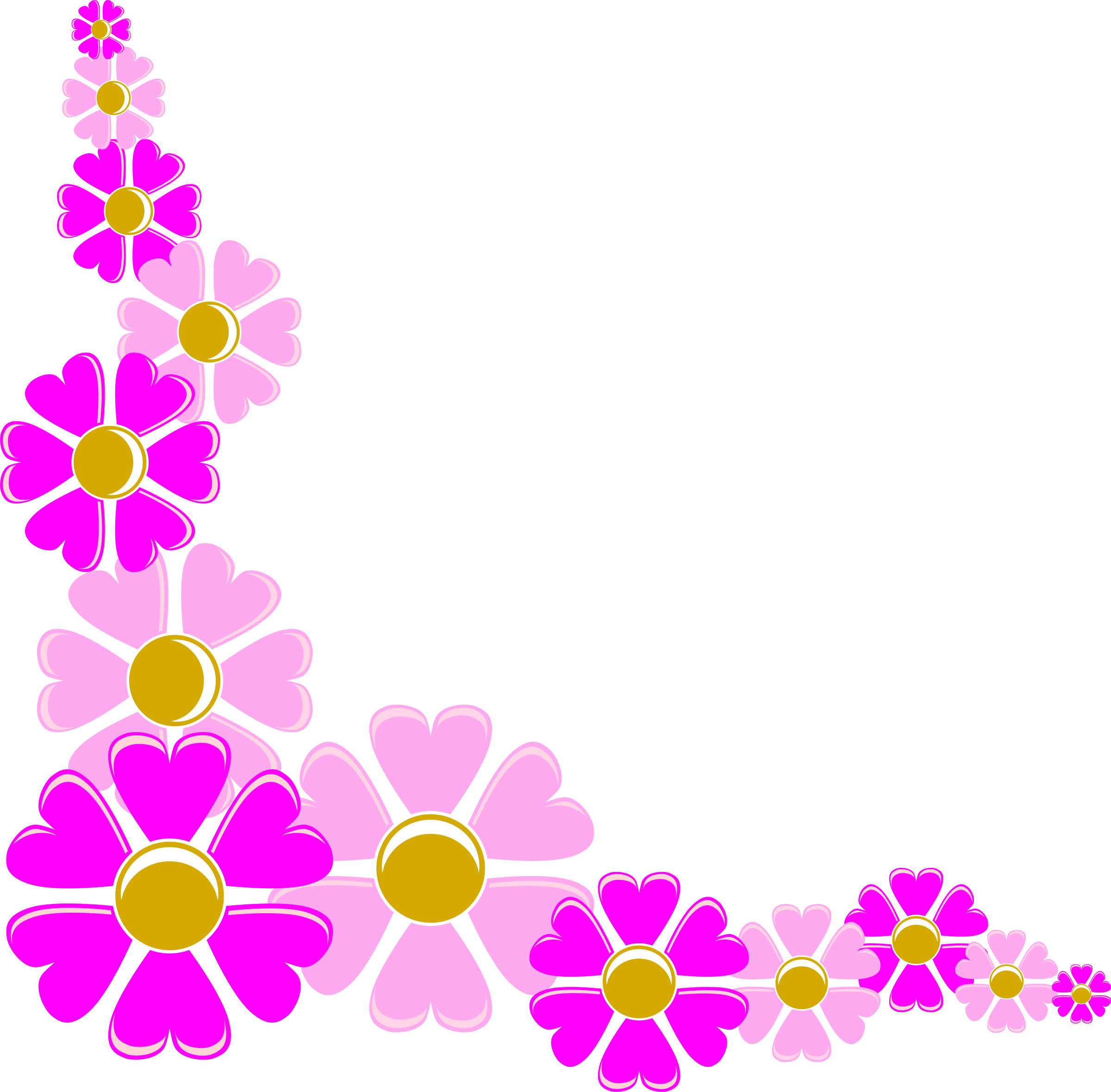 Flower Border Corner Designs ClipArt Best