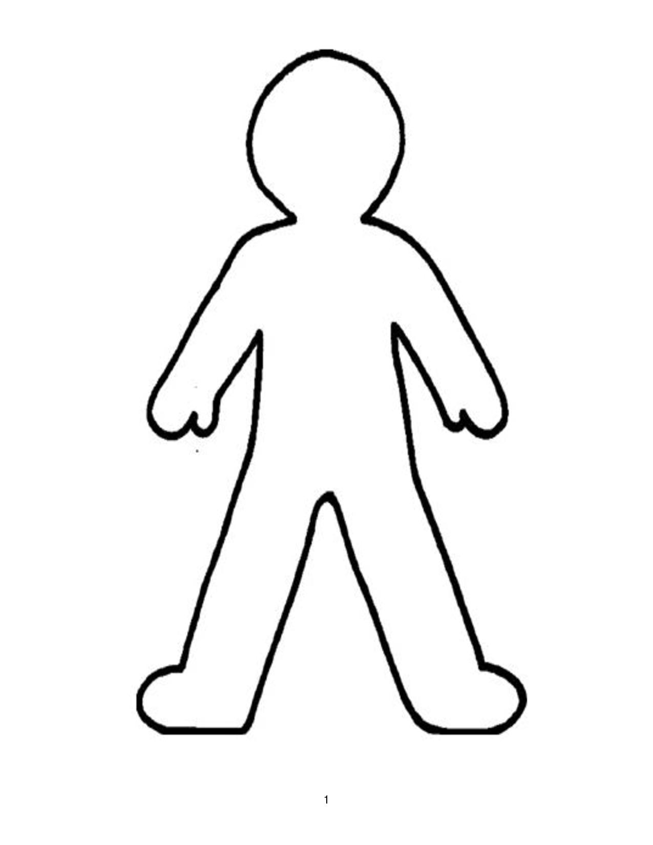 Doll Outline Template - ClipArt Best