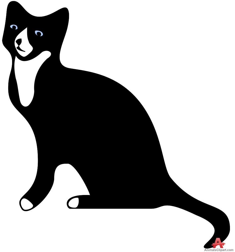 Black Cat with White Chest Clipart | Free Clipart Design Download