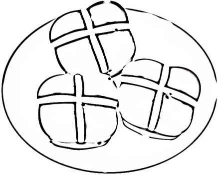 Hot Cross Buns coloring page | Super Coloring - ClipArt ...