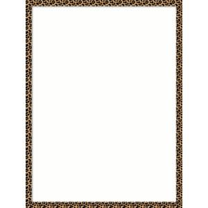 african page border clipart best Leopard Black and White Clip Art Lion Clip Art
