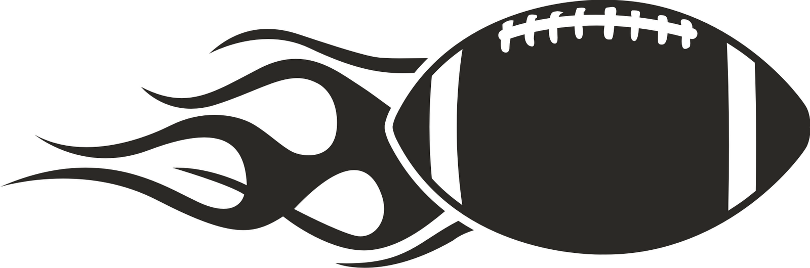 Outline Football Clipart