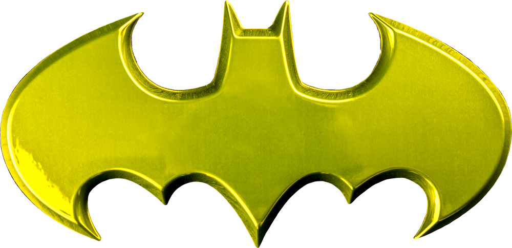 Batman - Batman Logo Yellow Chrome Premium Fan Emblem by Fan Emblems