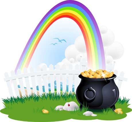 Rainbow And A Pot Of Gold - ClipArt Best
