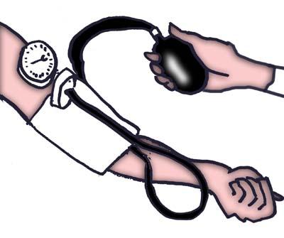 Measuring Blood Pressure Clip Art