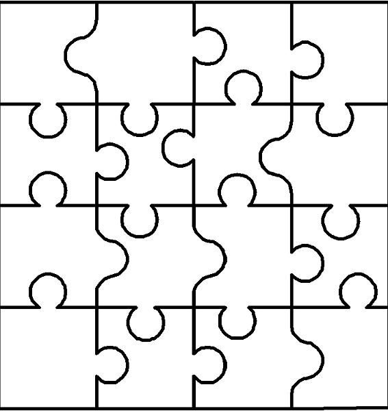 Puzzle Piece Coloring Page Clipart Best