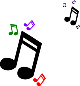 Colored Music Notes clip art - vector clip art online, royalty ...