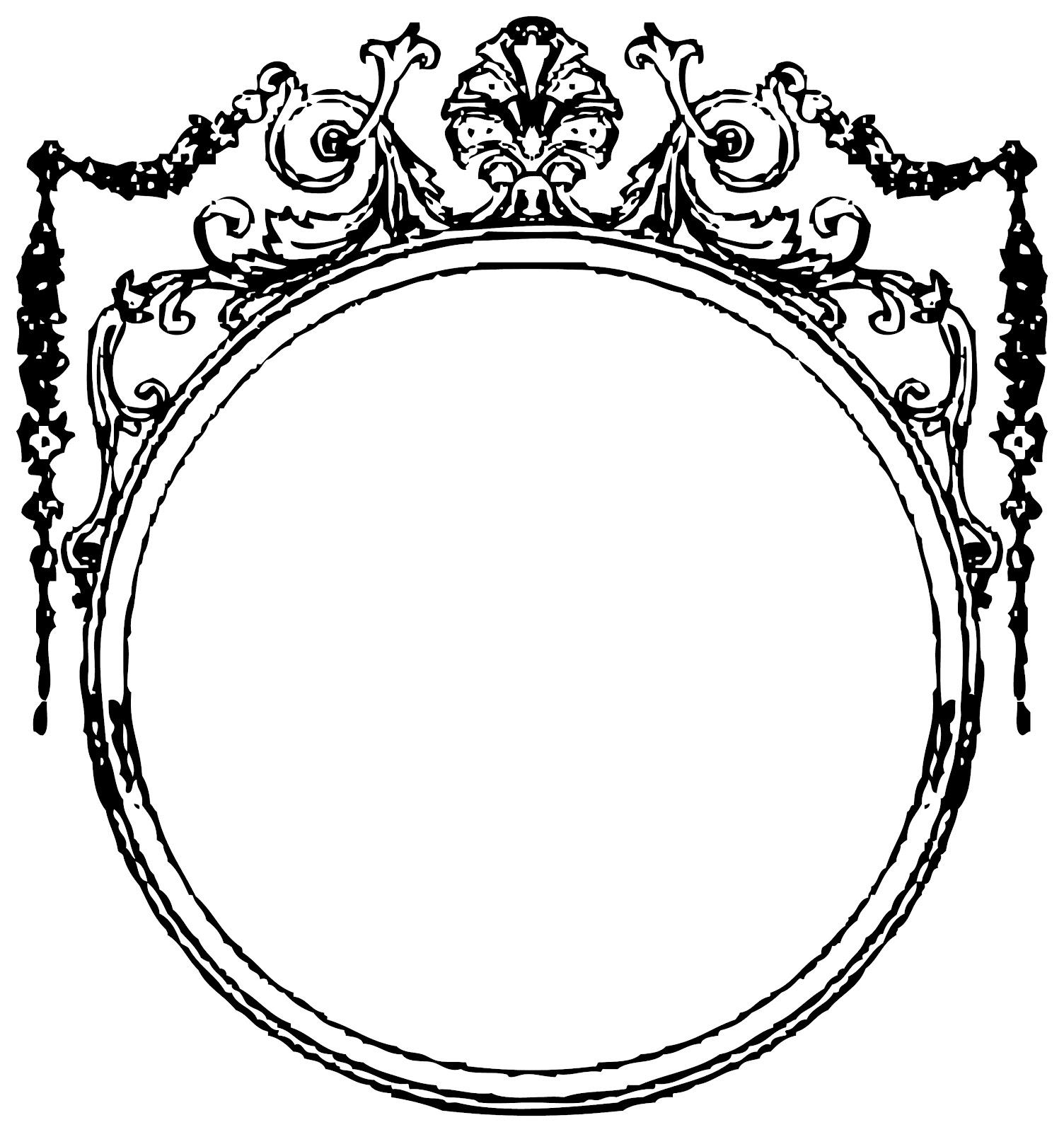 Vintage borders frames clipart