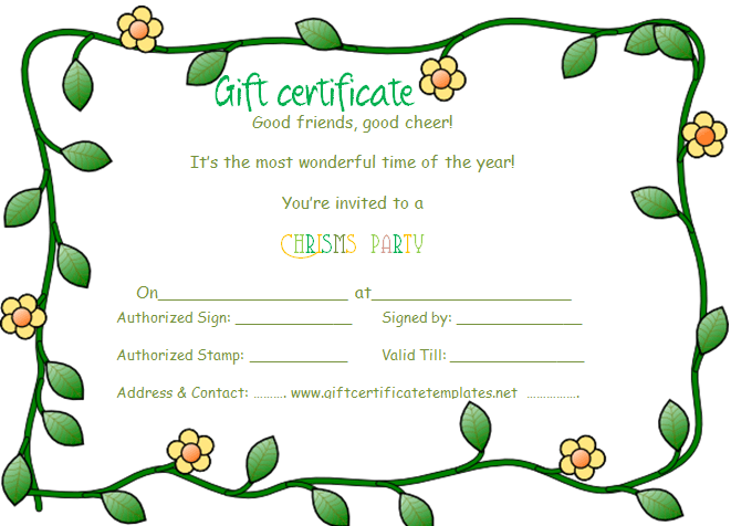 gift certificate template word free – Free Certificate Template for Word