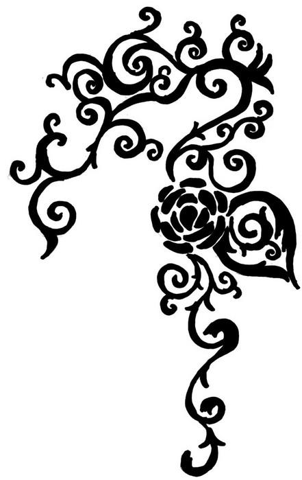 Rose Vines Drawings Rose Vine Drawing