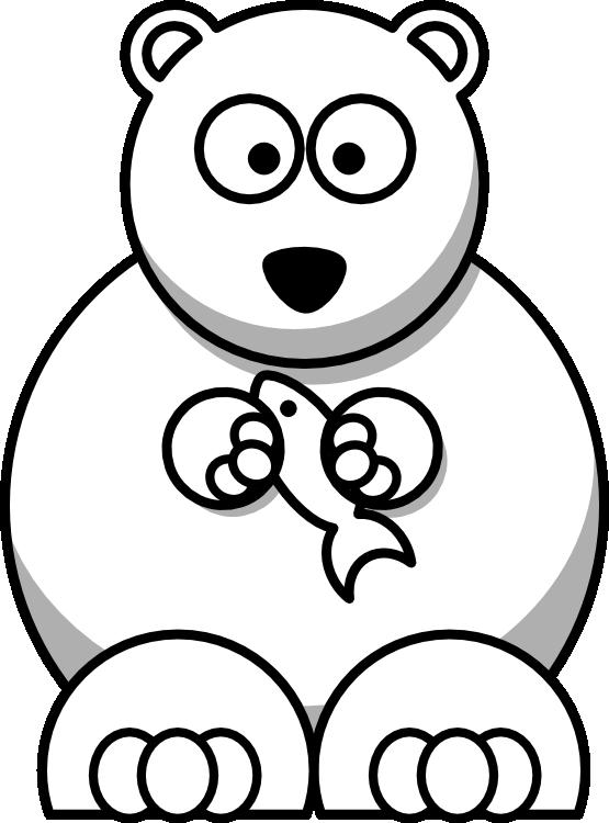 Lemmling cartoon bear black white line art christmas xmas stuffed
