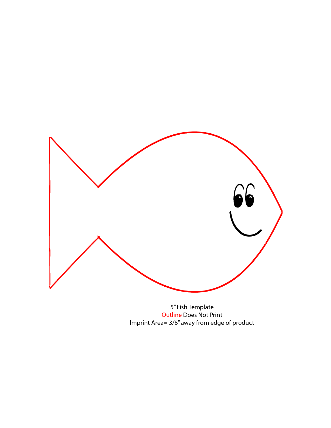 Fish template outline does not print imprint area clipart best
