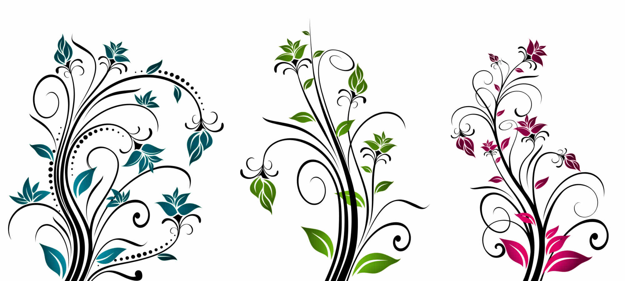 Vines Flowers Vector Vector Flower Clipart