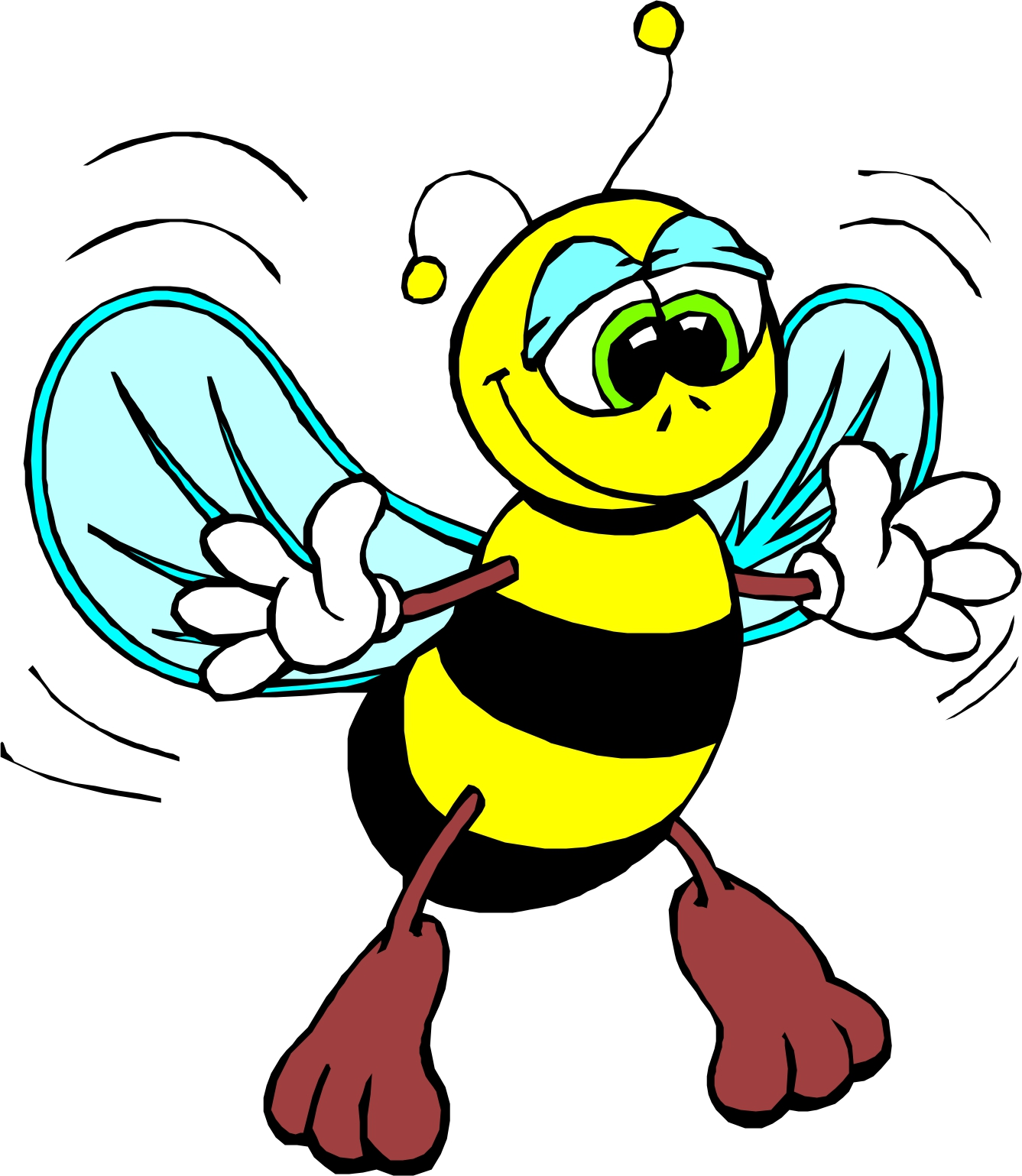 Honey Bee Cartoon - ClipArt Best