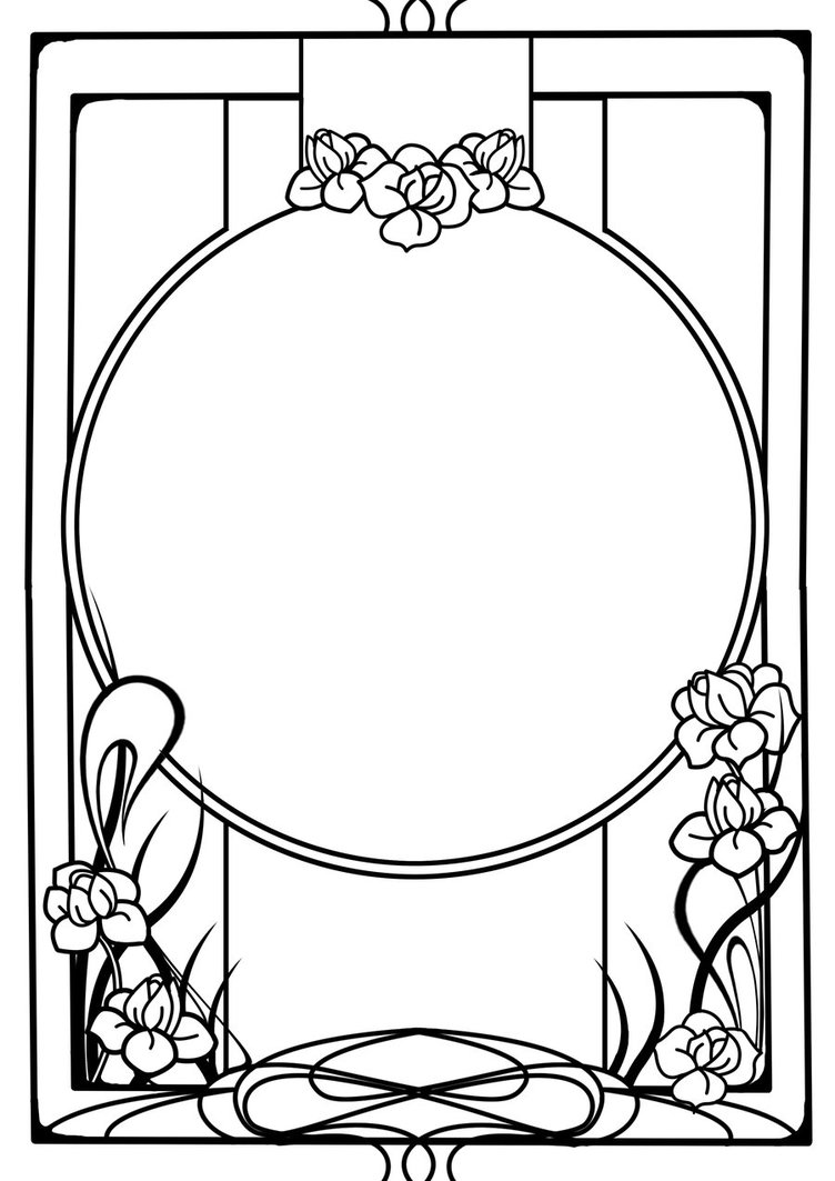 Art Nouveau Circle Drawing ClipArt Best