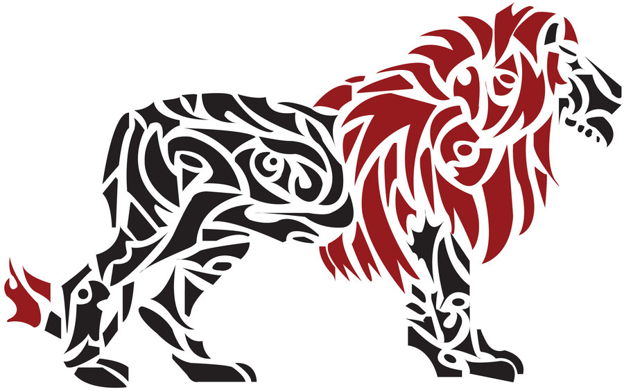 Go Back > Gallery For > Drawings Of Tribal Lions