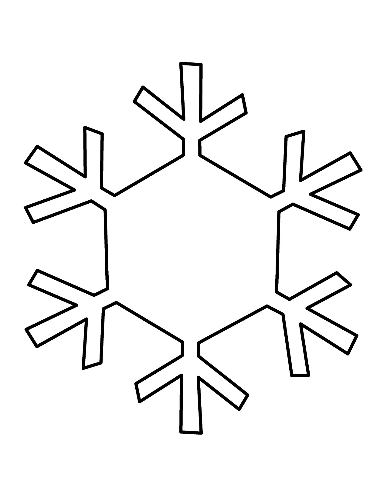37 snowflakes outline . Free cliparts that you can download to you ...