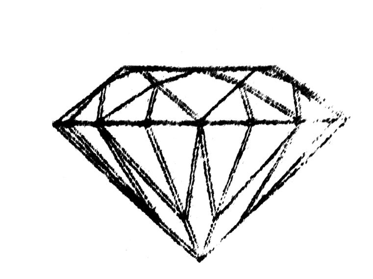 Line Drawing Diamond : Diamond drawing clipart best
