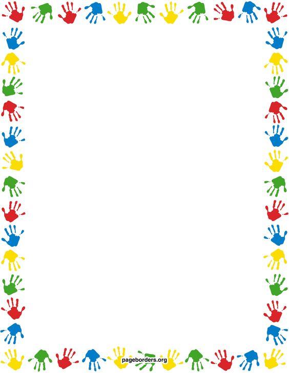 "Calendar Border Clip Art : Search results for ""handprint border clip art calendar"