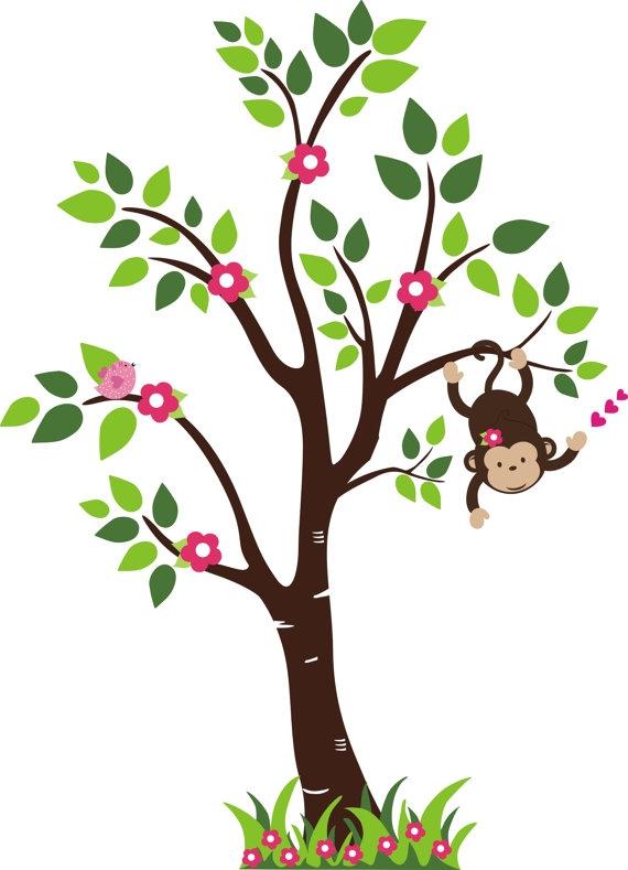 monkey in tree clip art clipart best