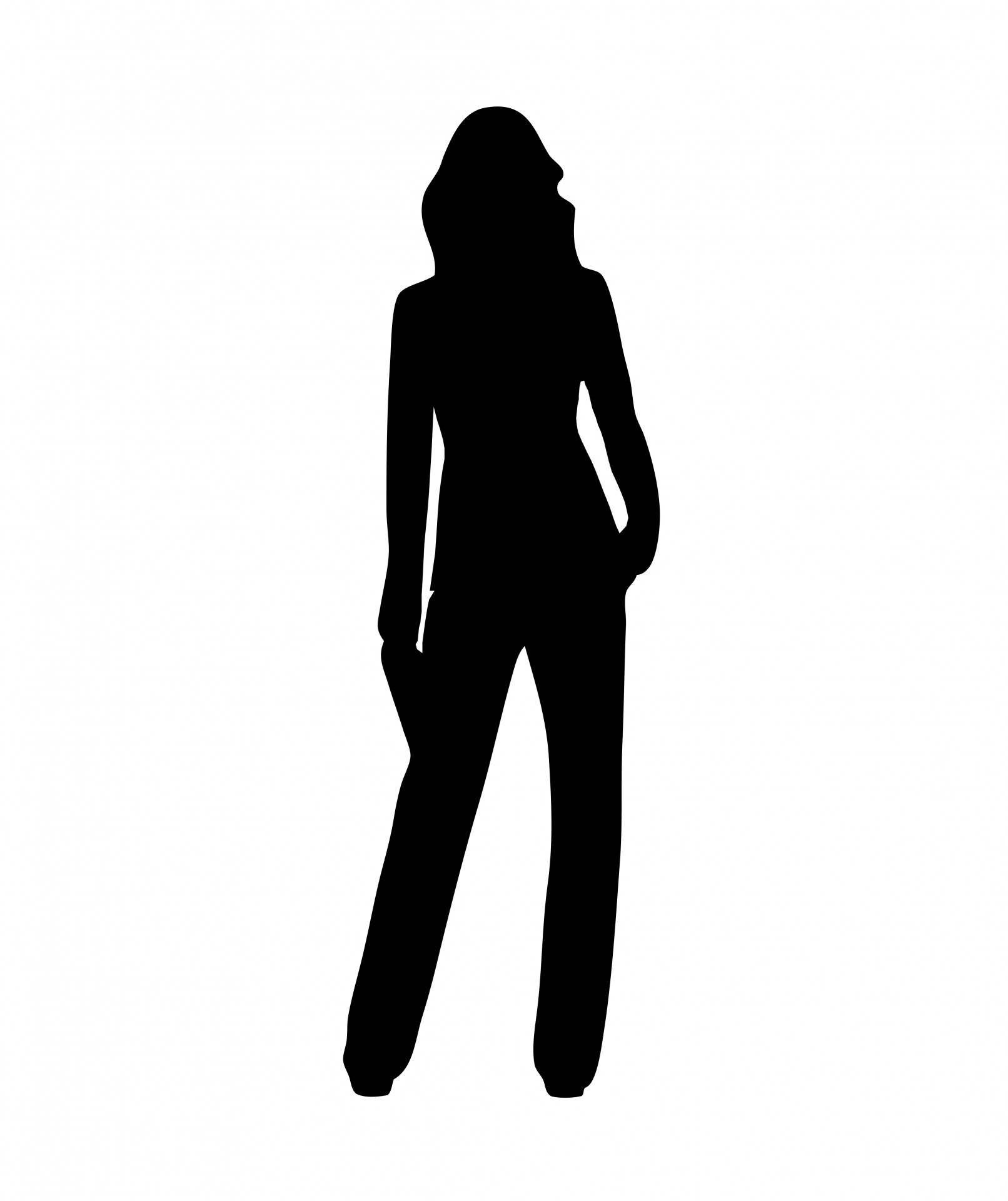 Woman Standing Silhouette - ClipArt Best