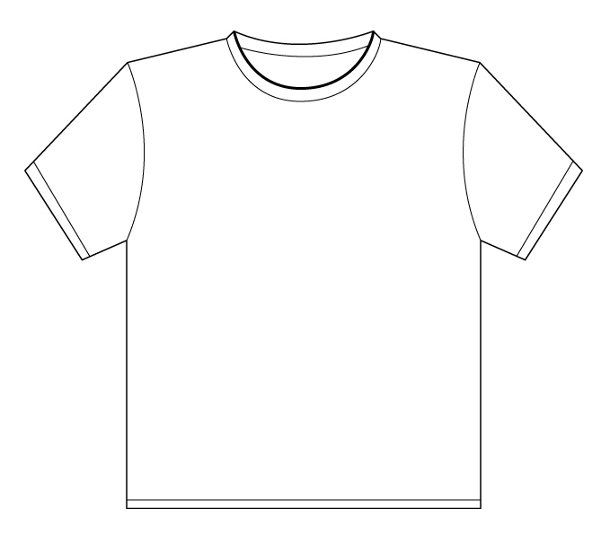 Line Art T Shirt Design : T shirt outline printable clipart best