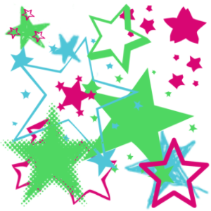 pink stars graphics and comments