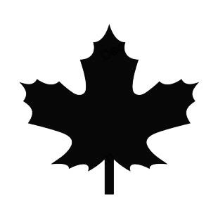 Maple Leave Sillouette - ClipArt Best