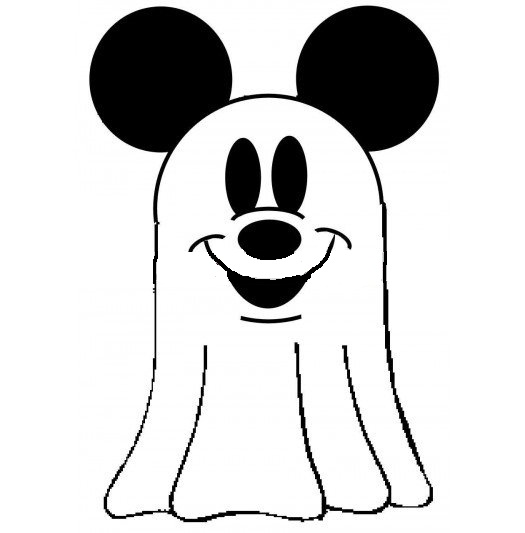 Disney Mickey Mouse Halloween Ghost Coloring Pages For