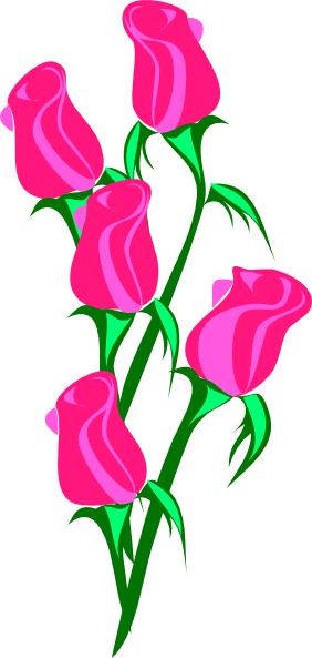 Bunch Of Pink Roses clip art - vector clip art online, royalty ...