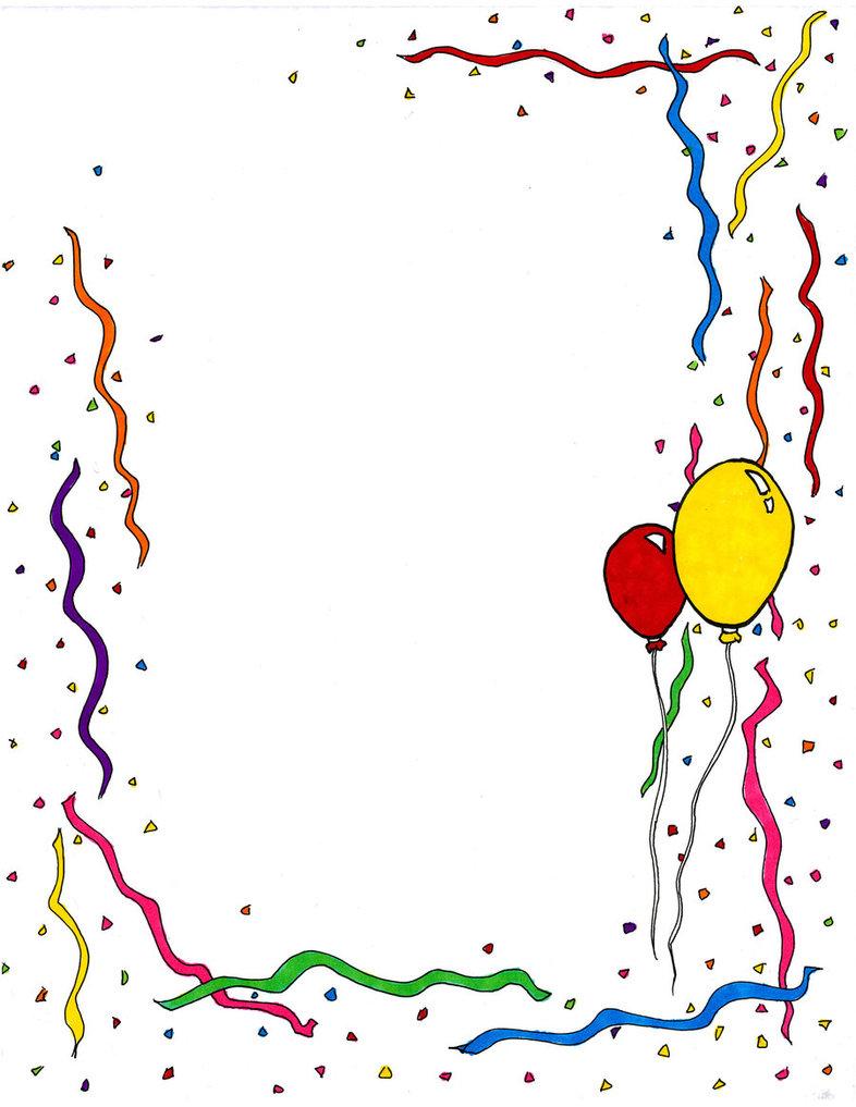 birthday celebration borders clipart best