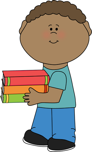 Child Carrying Books Clipart Clipart Best