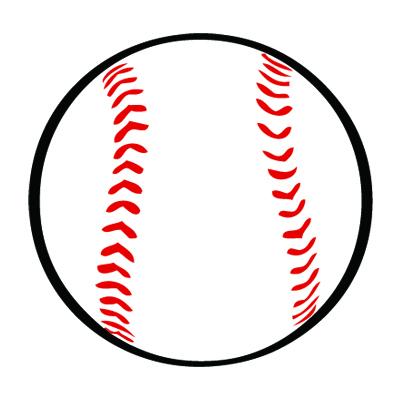 Baseball ball clipart