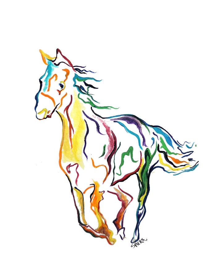 horse drawings clip art - photo #22