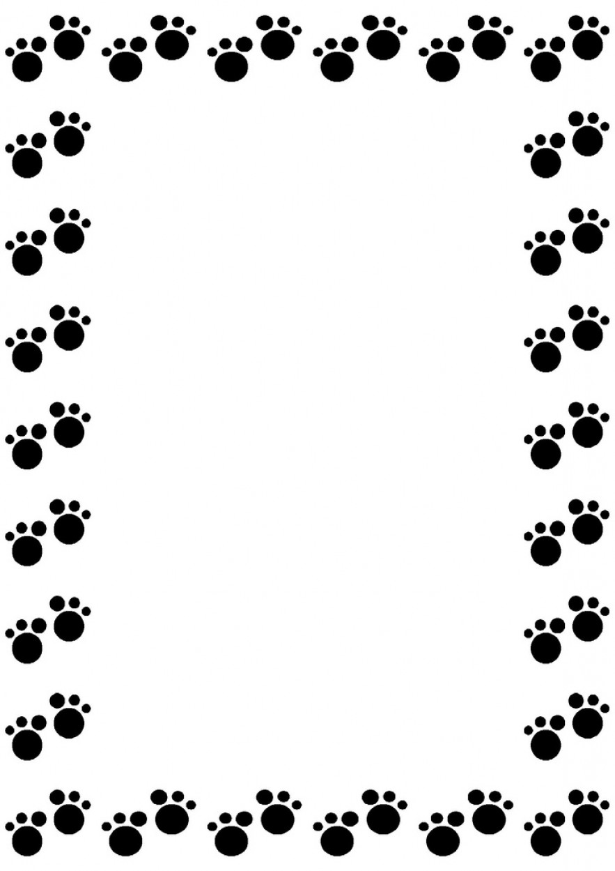 Exclusive Lion Print Border Clip Art Layout | ClipArTidy