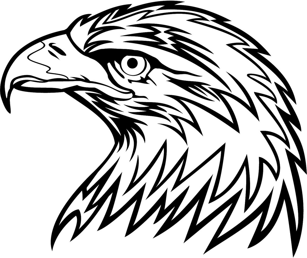 Eagle head logo black and white - photo#2