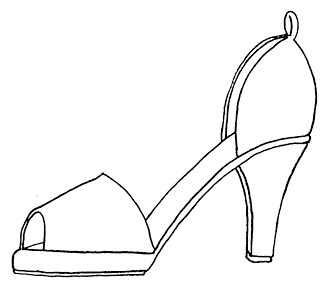 high heel shoe template craft - shoe crafts paper shoes templates and high heels