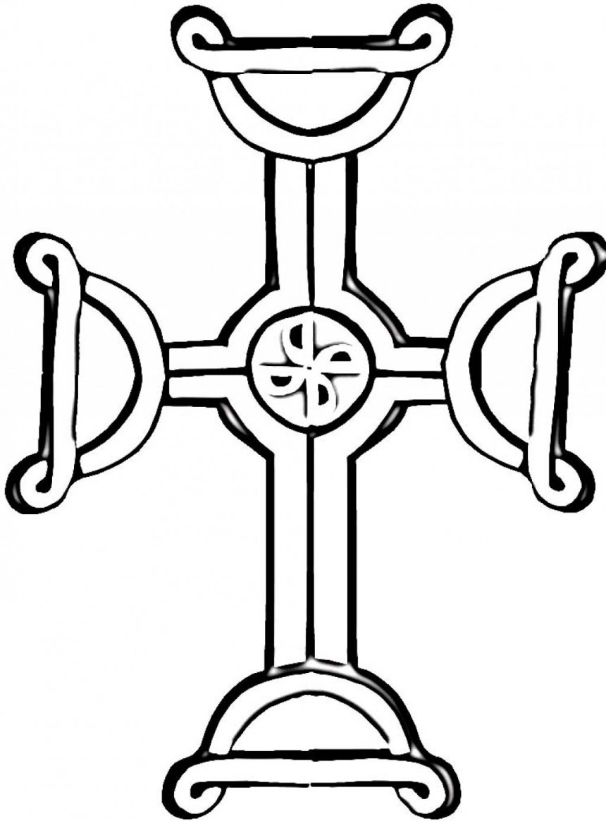 Free Printable Celtic Cross Coloring Pages Clipart Best