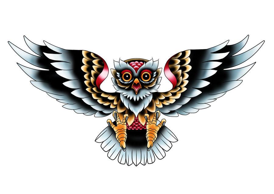 Owl Art Tattoo - ClipArt Best