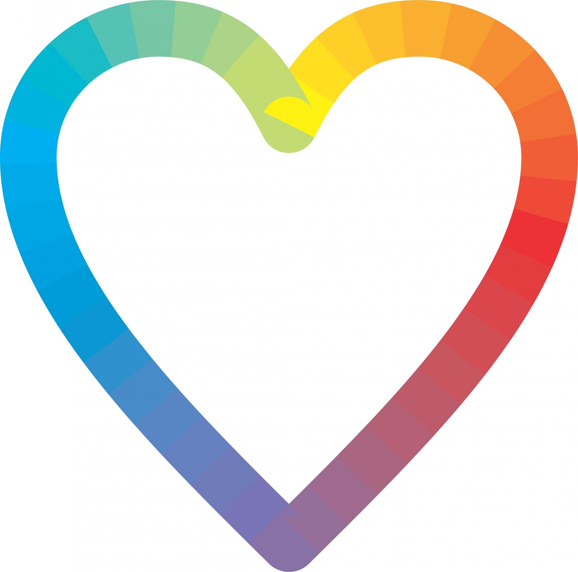 Rainbow Heart Clip Art - ClipArt Best
