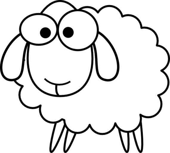 Line Drawing Sheep : Sheep line drawing clipart best